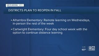 Arizona school districts one step closer to reopening