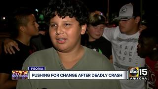 Peoria residents pushing for change after deadly crash