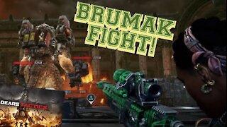Gears Tactics Gameplay - Brumak Fight! Raw Footage