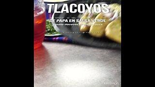 Potato Tlacoyos in Green Sauce