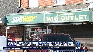 Businesses reopen after Edmondson Village Shopping Center fire