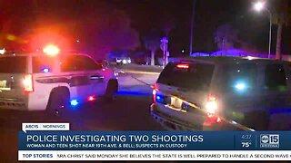 Suspects in custody after Phoenix shootings
