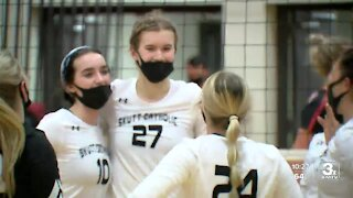 Husker volleyball recruits in action