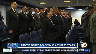 San Diego Police Department hosts largest academy class in 25 Years