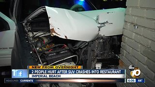 2 hurt after SUV hits Imperial Beach restaurant