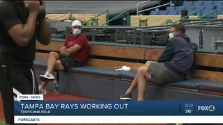 Tampa Bay Rays return to workout