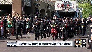 Community pays tribute to fallen firefighter Austin Peck