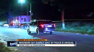 Neighbors say suspect shot by police is unusual