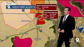 Severe thunderstorm, flash flood warnings issued for Catalina Foothills and Oro Valley