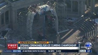 World Cup Ice Climbing championship opening ceremonies tonight