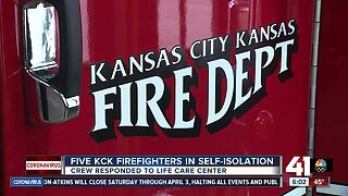 5 KCK firefighters in self-isolation after transporting COVID-19 patient