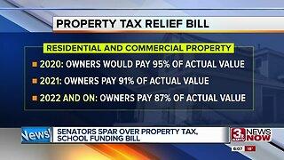 Senators spar over property tax, school funding bill