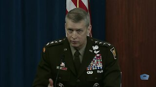 Donald Trump Impeachment - Military Generals Press Briefing at Pentagon on Troops Protecting DC