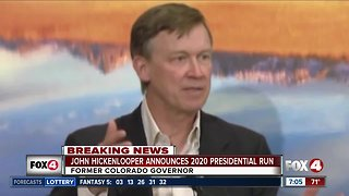 Former Colorado Gov. John Hickenlooper announces 2020 presidential campaign