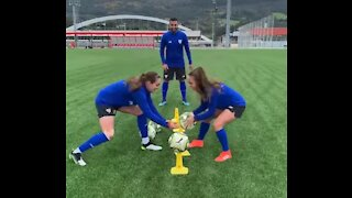 Training with athletic Bilbao women's team,