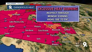 Excessive Heat Warnings in effect through Monday