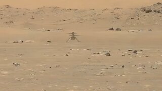 High-Res Video Showing Helicopter Completing First Flight On Mars