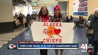 Chiefs fans from across the country flock to Kansas City