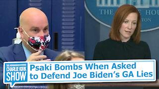Psaki Bombs When Asked to Defend Joe Biden's GA Lies