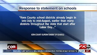 Local Superintendent responds to Newsom's possible reopening of schools
