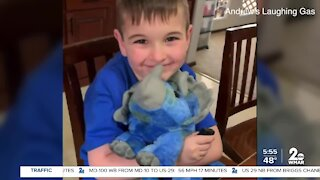 Andrew's Laughing Gas donates flatulent stuffed animals to sick children