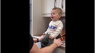This Baby And His Grandpa Share An Epic Laughing Session And It's Hilarious