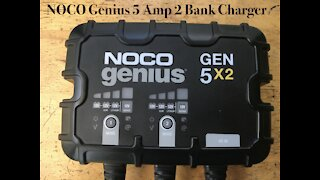 NOCO Genius 5amp 2 Bank Battery Charger
