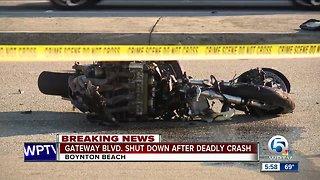 Motorcyclist killed in Boynton Beach crash