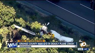 Orange County man ID'd in deadly Oceanside plane crash
