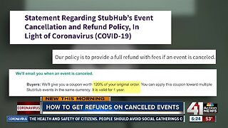 How to get refunds on canceled events