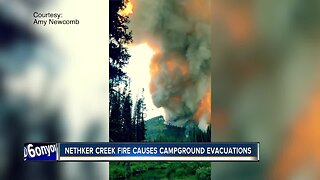 Nethker Creek Fire causes evacuations, continues to burn between Riggins and McCall