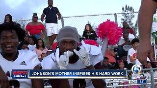 Christopher Johnson mother inspires his hard work