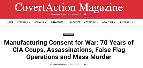 Manufacturing War - 70 Years of CIA Coups Assassinations False Flag Operations and Mass Murder