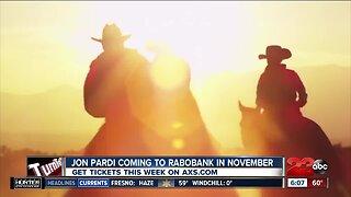 Jon Pardi coming to Bakersfield