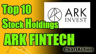 ARKF Top 10 ARK Fintech ETF Stock Holdings Technical Analysis Breakdown