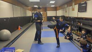 Matteo double kick break