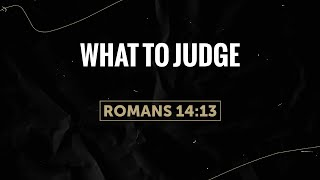 What To Judge - 1/13/2021