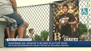 Inspiring BA senior beats cancer in time for playoff run