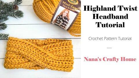 Highland Twist Crochet Headband Tutorial