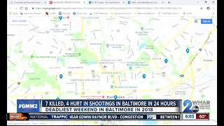 7 dead in 9 shootings through Baltimore's most violent weekend of 2018