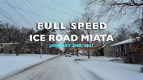 Full Speed Ice Road Miata