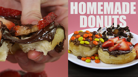 Sugar overload homemade donut recipe