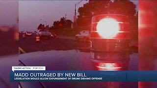 MADD outraged by drunk driving expungement bill