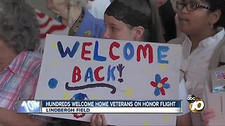 Hundreds welcome veterans home from Honor Flight San Diego