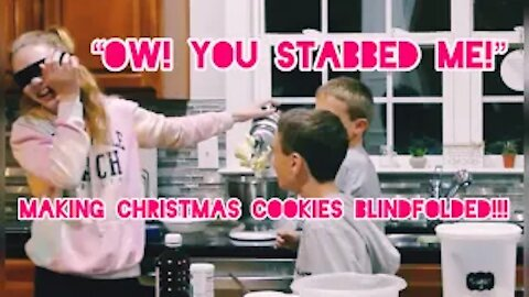 Making Christmas Cookies BLINDFOLDED!!! | Gabby's Gallery