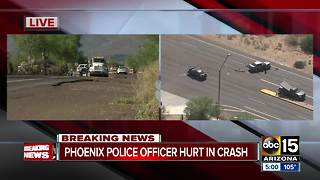 Phoenix police officer in critical condition after crash in north Phoenix