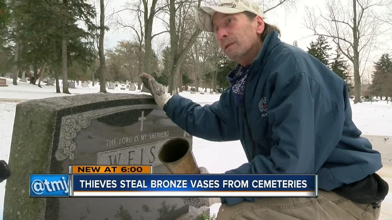 Thieves target vases at local cemeteries