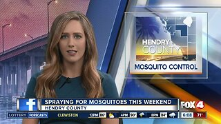 Mosquito spraying planned in Hendry County