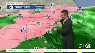 Metro Detroit Forecast: Bright day before a wintry mix tonight