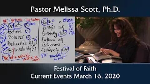Festival of Faith - Current Events March 16, 2020